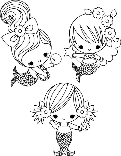 cute coloring page mermaids mermaid coloring pages