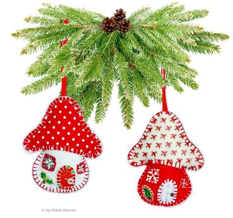 felt toadstool house christmas tree decoration ornament