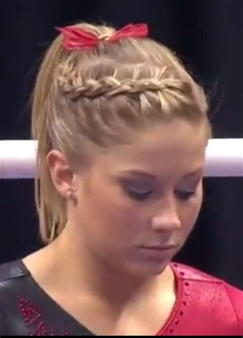 gymnastics hairstyles for short hair gymnastics