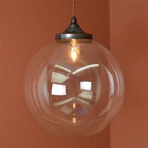 Holmfirth pendant light with large globe cord