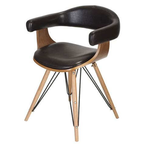 bois de la chaise fauteuil en bois bambou esprit cuir kubrick la chaise
