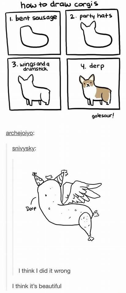 Memes Drawing Draw Corgi Funny Meme Things