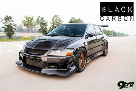 Black Mitsubishi Evo by Mitsubishi Lancer Evolution 9 Black Carbon 9tro
