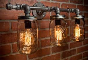 mason jar light fixture industrial light light rustic