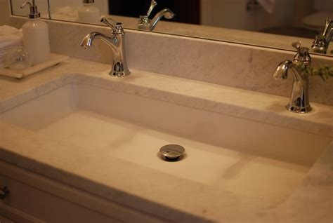 Undermount Long Sink With Two Faucets. Nice Solution For