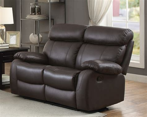 grain leather recliner homelegance pendu top grain brown leather reclining loveseat