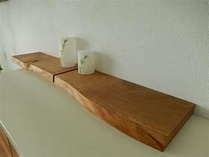 Regalbrett Holz Natur : 2xwandboard eiche wild massiv holz board regal steckboard regalbrett baumkante in m bel ~ Frokenaadalensverden.com Haus und Dekorationen