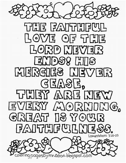 Coloring Faithfulness Pages Lamentations Bible Colouring Adult