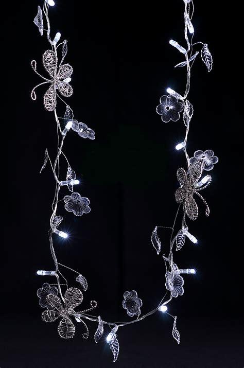 decorative butterfly crystal flower led string light garland