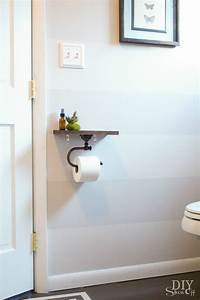 Toilet paper holder shelf and bathroom accessoriesdiy show for Placement of toilet paper holders in bathrooms