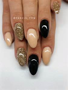 Best ideas about black gold nails on and nail art for