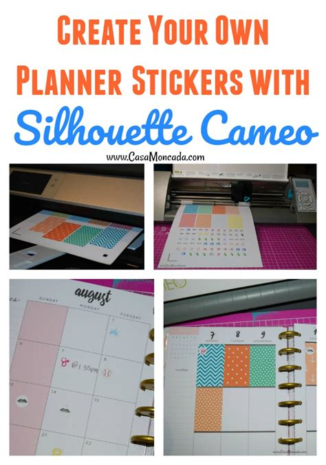 design your own planner create your own planner stickers with silhouette cameo