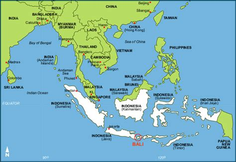 bali map bali guide map  bali showing  major