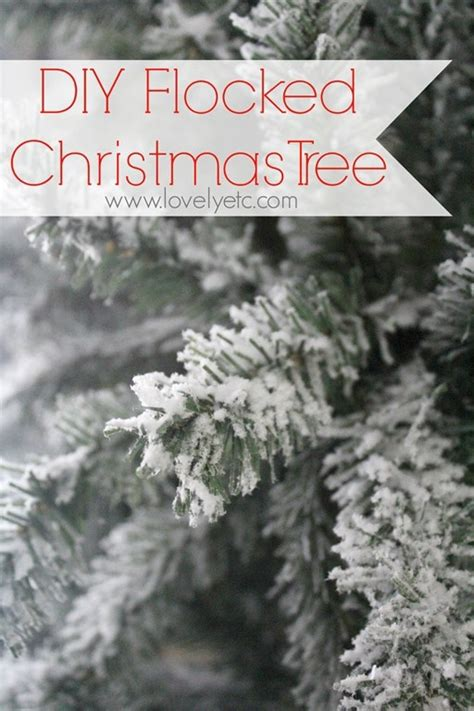 where to buy tree flocking diy flocked tree lovely etc