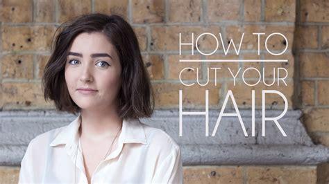 o cut your own how to cut your own hair hair bob how