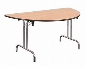 Table Demi Lune Pliante : table pliante demi lune dune l 160 pi tement chrome ~ Dode.kayakingforconservation.com Idées de Décoration