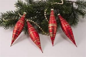 Weihnachtskugeln Aus Lauscha : 4 oliven rot matt gold geringelt christbaumkugeln ~ Orissabook.com Haus und Dekorationen