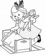 Coloring Pages Doll Baby sketch template