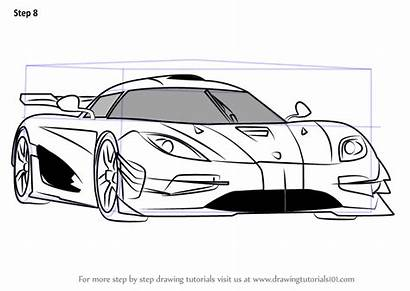 Koenigsegg Draw Step Drawing Coloring Sports Cars