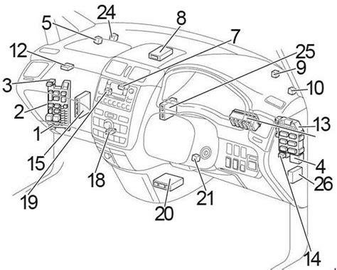 motor auto repair manual 2000 toyota ipsum instrument cluster toyota ipsum 2000 2006 fuse box diagram auto genius