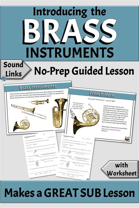 The theme of the lesson: Musical Instrument Families | BRASS Family - Distance Learning or Classroom | Elementary music ...