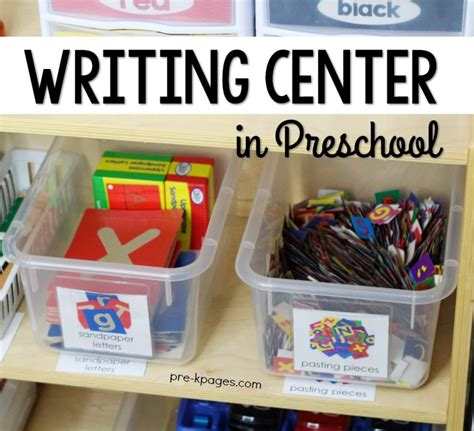 writing center for preschool and kindergarten 384 | Preschool Writing Center Set Up in the Classroom