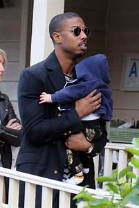 Michael B Jordan Out In LA With A Friend And Her Baby