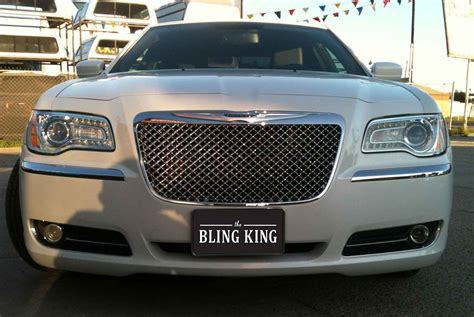 Bentley Grill Chrysler 300 by 2011 2014 Chrysler 300 Chrome Bentley Mesh Grille