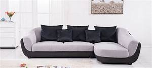 Canapé Tissu Gris : canap d 39 angle en tissu gris a petit prix ~ Teatrodelosmanantiales.com Idées de Décoration