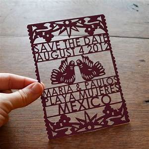 Handmade finds for a festive cinco de mayo wedding for Laser cut mexican wedding invitations
