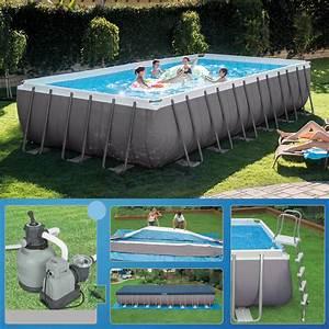 Pool Rechteckig Stahl : intex 732 x 366 x 132 swimming pool rechteck stahlbecken frame schwimmbad 28362 ebay ~ Markanthonyermac.com Haus und Dekorationen