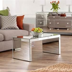 venetian mirrored small coffee table contemporary With small mirrored coffee table