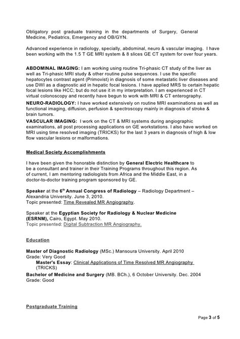 Radiologist Resume by Radiologist Resume Updated