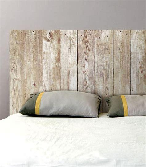 accessoires de cuisine originaux sticker mural tête de lit planches de bois sticker pas