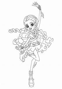 Free monster high ghouls coloring pages