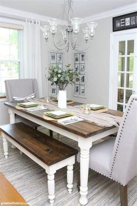 coastal farmhouse dining room reveal green  decor