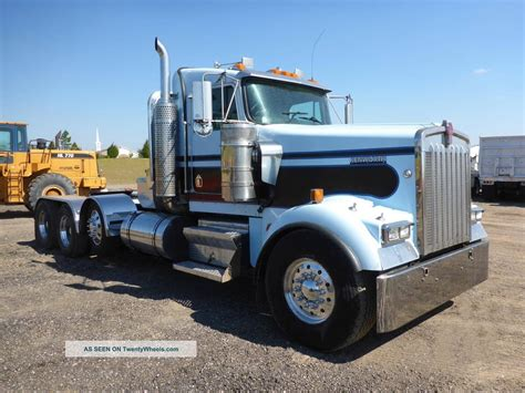 kenworth heavy 2005 kenworth w900 tri axle heavy hauler truck