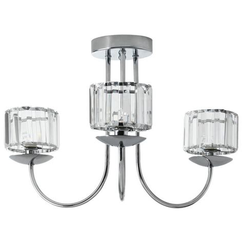 buy collection imogen 3 light ceiling fitting chrome at