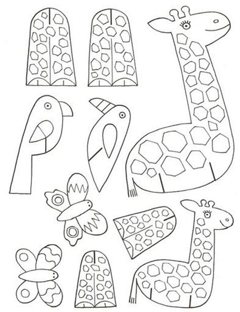 birds and giraffes coloring pages 25 beste idee 235 n giraffe knutselen op 5947