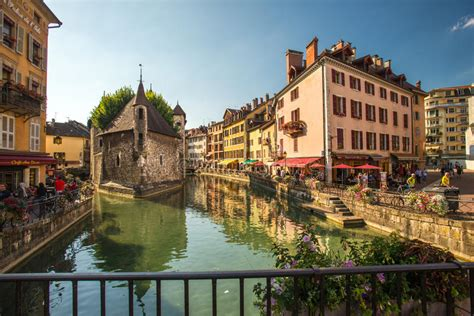 View Of The Old City Of Annecy 12th Century Prison And