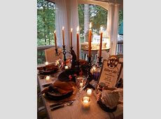Halloween Tablescape Dining in the Killer Cafe