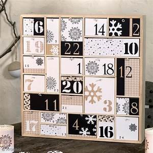 Idée Calendrier De L Avent Homme : diy calendrier de l 39 avent graphique noir et blanc id es conseils et tuto calendrier de l 39 avent ~ Dallasstarsshop.com Idées de Décoration