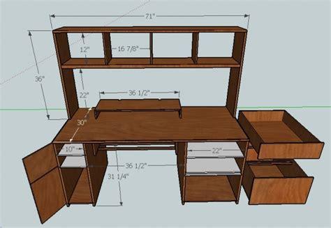 build a computer desk plywood computer desk plans need help building computer