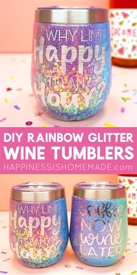 rainbow glitter tumblers  cricut explore air