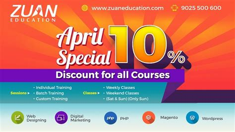 cheap digital marketing course april special get 10 discount on all courses zuan
