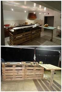 Küche Aus Paletten : pallet kitchen countertop paletten m bel pinterest m bel aus paletten k chenarbeitsplatte ~ Eleganceandgraceweddings.com Haus und Dekorationen