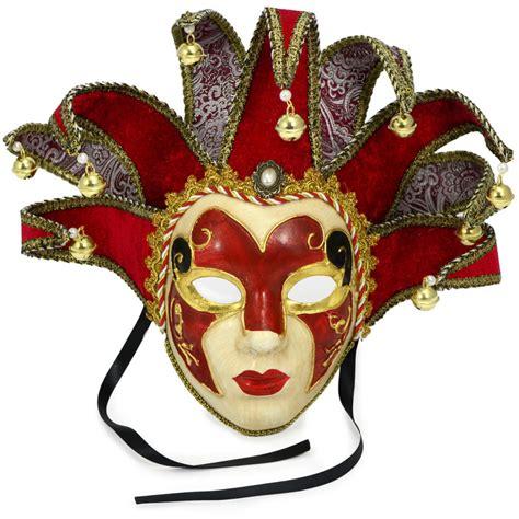 velvet elegance jester mask red mardigrasoutletcom
