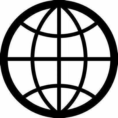 Icon Svg Globe Internet Network Earth Font