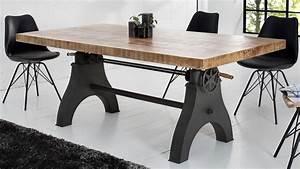 Table A Manger Industrielle : table manger rectangulaire industriel bois massif taylor gdegdesign ~ Teatrodelosmanantiales.com Idées de Décoration