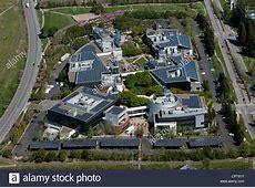 aerial photograph Google headquarters, Mountain View